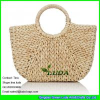 Wholesale LDYP-027 macrame women hobo handbags cornhusk natural straw beach bag from china suppliers