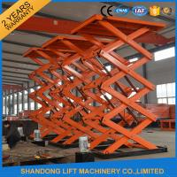 Wholesale Adjustable Hydraulic Stationary Warehouse Mechanical Scissor Lift , Hydraulic Scissor Lift from china suppliers