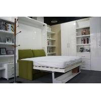Quality Hotel Use Double Wall Bed with Sofa and Shelf , White Color E1 Grade Material for sale