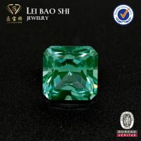 Wholesale green synthetic spinel square shape #137 spinel loose gemstones from china suppliers