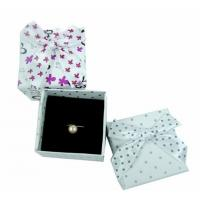 Quality Engagement Ring Gift Jewelry Paper Boxes Packaging Purple And White Spot for sale