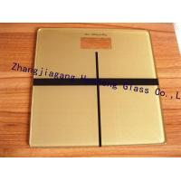 Wholesale 6MM golden tempered glass as health scale top from china suppliers