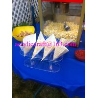 Wholesale 4 Holes Acrylic Plastic Ice Cream Cone Holder, Clear Acrylic Popcorn Cone Display Rack from china suppliers