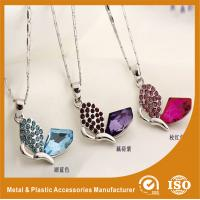 Wholesale Red / Black / Blue Metal Chain Necklace , Butterfly Pendant Necklace from china suppliers
