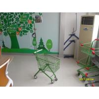 Wholesale 33 Liter Green Q195 Steel Kids Shopping Carts With Metal Flag Pole from china suppliers