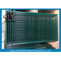 Wholesale Dark Green PVC Coated Welded Fence Gate With Round Post For Gym XLF-16 from china suppliers