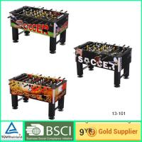 Quality 30mm MDF Foosball Table for training with plastic decoration strip for sale