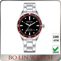 Wholesale Red Dial 1000 Meter Dive Watches , Sapphire Glass Stainless Steel Wrist Watches For Diving from china suppliers