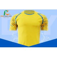 China Custom Yellow Football Jersey Sportswear For Sports And Fitness Size Xs S M L for sale