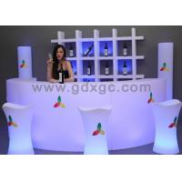 Wholesale new arrive Events round bar counter with LED lighting and remote from china suppliers