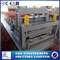 Wholesale 0.3 - 0.8mm Thickness Roof Panel Roll Forming Machine , Metal Making Machine PLC Control from china suppliers