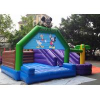 Wholesale 0.55mm PVC Tarpaulin Big Mickey Inflatable Bounce House With Slide N Pool from china suppliers