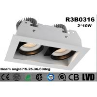 Buy cheap Long Lifespan 50000 Hours LED Recessed Downlight Square Shape Warm White 3000K from wholesalers