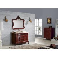 Wholesale Dark Color Classic Bathroom Cabinets Water Proof Solid Wood Hotel Funiture from china suppliers