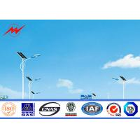 Wholesale 8m Hot Dip Galvanized Steel Pole , Solar Street Light Poles With Q235 Material from china suppliers