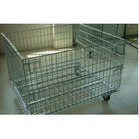 Wholesale Wire Mesh Container with Removable Wheel,4.0mm,5x5cm,galvanized, removable from china suppliers