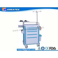 Wholesale ABS Big size Emergency Medical Trolleys with Draws and IV Stand (GT-TAQ203) from china suppliers