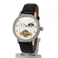 Wholesale Leather Skeleton Automatic Mechanical Watches For Men Stainless Steel from china suppliers