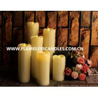Wholesale Living room Ivory Wax Electric Votive Candles / White Flameless LED Dripping Candles from china suppliers