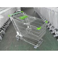 Wholesale 180 Liter Steel Wire Grocery Store Shopping Cart , 4 Wheel Shopping Trolley from china suppliers