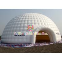 Wholesale CE Certificated Inflatable Dome Tent / White PVC Inflatable Dome Structures from china suppliers