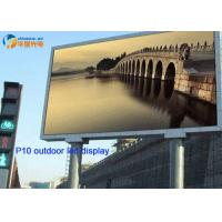 Wholesale High Resolution Advertising LED Signs / P10 lED Signs Outdoor 6500cd/㎡ Brightness from china suppliers