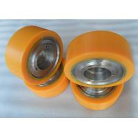 Wholesale Aging Resistant Industrial Bisque PU Polyurethane Wheels coating with Iron Core from china suppliers