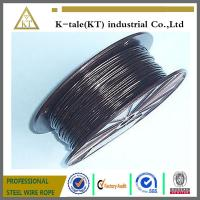 Wholesale BLACK Vinyl Coated Wire Rope Cable 1/16 - 3/32 , 7x7 from china suppliers
