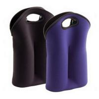 Wholesale Hot-selling High quality Neoprene Wine holder Water bottle bag two-Bottle holder in different colors from china suppliers