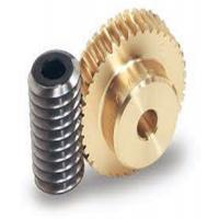 Wholesale One Thread Steel Screw Shafts Spiral Bevel Gear Brass Worm Gears For Motors from china suppliers