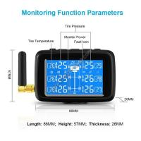Wholesale Factory Supply 12V Truck tpms tyre pressure monitors system TPMS Truck with internal external sensors from china suppliers