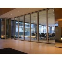 Wholesale Interior Office 12 mm Tempered Sliding Glass Partition Wall Powder Coating from china suppliers