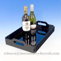 Wholesale Hostess Square Lucite Serving Tray, Plexiglass Drink Tray, Acrylic Food Tray from china suppliers