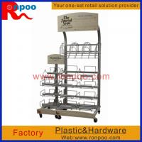 Wholesale Metal hanging display racks, Grocery Food Racks, Floor Sign holders, Garment Display Racks, Retail Store from china suppliers