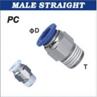 4mm Tube Straight Pneumatic Hose Fittings OD M5 Male BSPT Thread