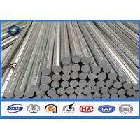 Wholesale 69KV 30FT 35FT Octagonal Galvanized Steel Pole for Distribution 345 Mpa Min Yield Stress from china suppliers