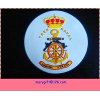 Wholesale 3D embossed logo pvc coaster with base from china suppliers