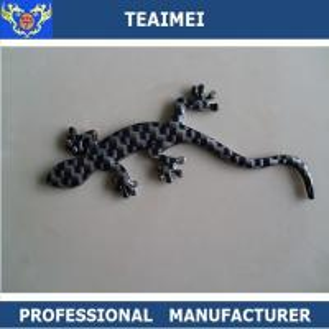 Wholesale Wall Lizard Custom Car Emblems Badges Carbon Fiber / Chrome Plastic from china suppliers