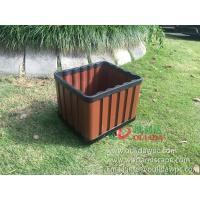 Wholesale WPC outdoor flowerpot OLDA-7013 rectangle planter 415x365x340mm from china suppliers