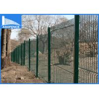 Wholesale 3D Anti Climb Garden Steel Panel Fence For Airports / Factory , 3.15mm Horizontal Wire from china suppliers
