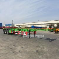 China Tri axle 40 ft 20ft tank container chassis semi trailer manufacturer 3 axle container trailer chassis trailer for sale | on sale