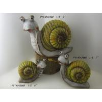 Wholesale Caroon Snail Garden Ornaments , Terracotta Garden Ornaments OEM Acceptable from china suppliers