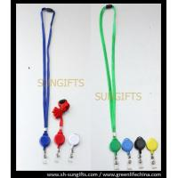 Wholesale Colorful solid badge reel and lanyard combo with clear vinyl strap from china suppliers