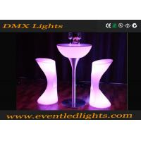 Wholesale PE Plastic hire Led Cocktail Table / high bar lighted cocktail tables Modern from china suppliers