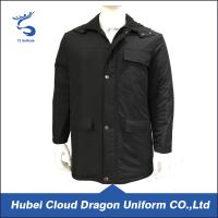 Wholesale Warmly Black Long Security Guard Coats , Plus Size Men Working Clothes from china suppliers