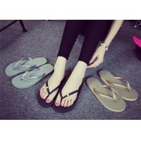 Wholesale Latest  Shower Flip Flops , Female Flip Flops Shoes With Rhinestone / Metal Logo from china suppliers
