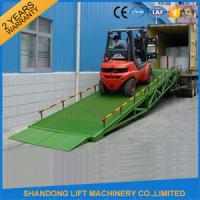 Wholesale Mobile Hydraulic Adjustable Container Loading Ramps with 0.9m - 1.8m Lifting Height from china suppliers