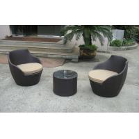 Wholesale Dark Brown Resin Wicker Obelisk Chair , Rattan Bullet Sofa Set from china suppliers