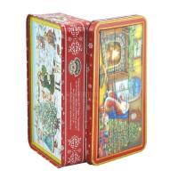 Wholesale Portable Christmas gift hinged colorful metal box gift tin boxes for puzzle from china suppliers