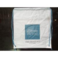 Wholesale Customized White Plastic Drawstring Backpack Apple Store Shopping Bag from china suppliers